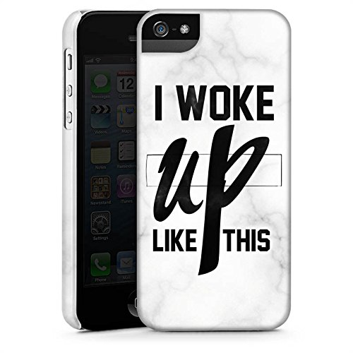 Apple iPhone X Silikon Hülle Case Schutzhülle Flawless Beyonce I woke up like this Premium Case StandUp