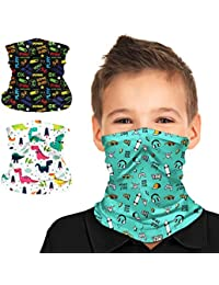 Black Game Five Nights At FreddyS Kids Boys Girls Bandana Face Mask Variety Ice Silk Bib Scarf Sun Balaclavas Neck Masks Gaiter Headband with Pocket