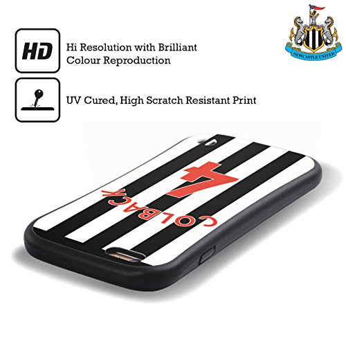 Ufficiale Newcastle United FC NUFC Aleksandar Mitrovic 2017/18 Giocatori Home Kit Gruppo 2 Case Ibrida per Apple iPhone 5 / 5s / SE Jack Colback