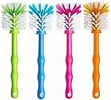 Deine Bürste 4er Set Mixtopf Reinigungsbürste zum Reinigen von z.B. Thermomix ® TM5, TM31, TM21 und Bimby TM 5 ®, Zubehör Spülbürste (1x Grün/ 1x Blau/ 1x Pink/ 1x Orange)