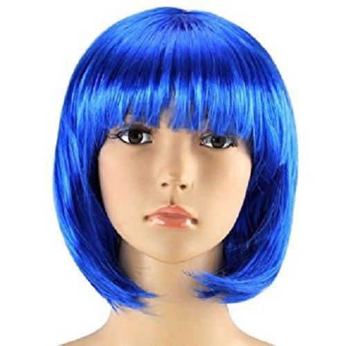 Kostüm Perücke Bob Blaue - Matissa KURZES BOB-PERÜCKE FÜR Frauen-FANTASTISCHES Kleid Cosplay-PERÜCKE POP-Party-KOSTÜM (Blau)