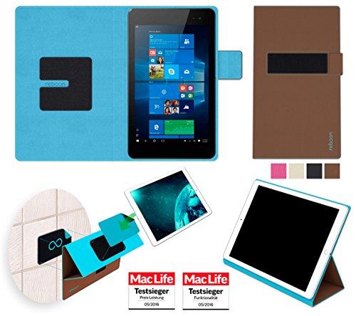 reboon Hewlett Packard Envy 8 Note Hülle Tasche Cover Case Bumper   in Braun   Testsieger