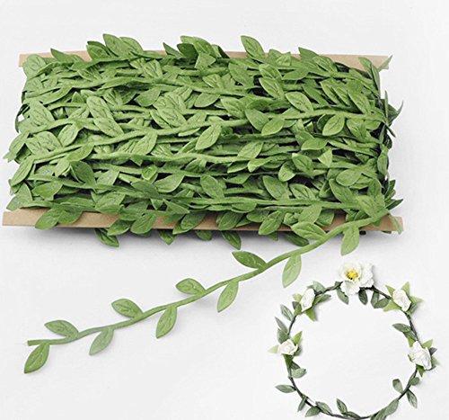 AROGEAR Künstliche Weinreben Fake Aufhängen, Grün, künstliche Blätter mit Nähen Basteln, Band 132m/a-40M Tuch Girlande Hochzeit Dekoration