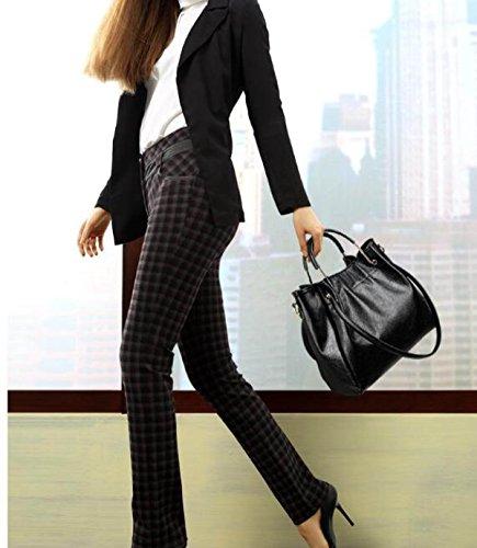Fashion Weiche Leder Umhängetasche Messenger Bag Eimer Damen Tasche Gray