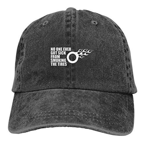 No One Ever Got Sick Logo Retro Adjustable Cowboy Denim Hat Unisex Hip Hop Black Baseball Caps