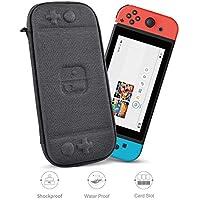 WIWU - Funda para Nintendo Switch, versión de actualización, Delgada, Bolsa rígida, Resistente al Agua, EVA, Viaje, Viaje, con Interruptor, 8 Cartuchos de Juego, Negro