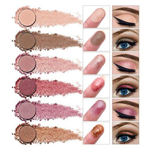 VENMO New Professional 12 Color Eyeshadow Powder Palette, High-Pearl Powder Repair Capacity Shimmer and Matte Eye Shadow (3#)