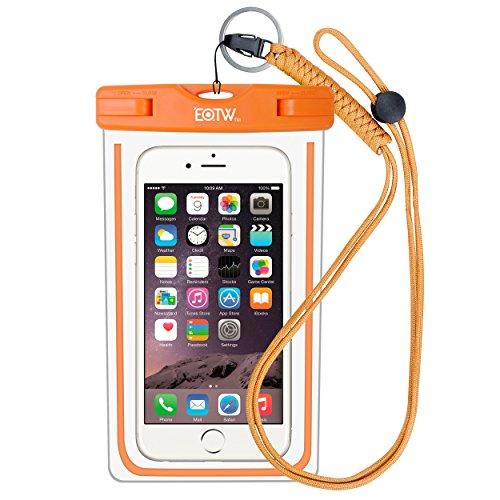 EOTW IPX8 Wasserdichte Tasche, Wasser- und staubdichte Hülle für Geld, Datenträger und Smartphones bis 15,24 cm (6 Zoll), Ideal für den Strand, Wassersport, fürs Radfahren, Angeln, usw. Orange …