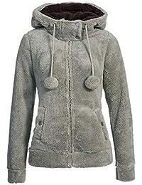 Urban Surface veste polaire teddy pour femme avec oreilles et capuche | sweat à capuche avec fermeture éclair