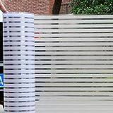 YHviking Senza Colla Pellicola Vetro statico,Traslucido Strisce Ufficio Adesivi di Vetro,Vetrofania,Riutilizzabili Privacy del Film Finestra,Adesivi in Vetro per la Privacy-A W75xL500cm(30x197inch)