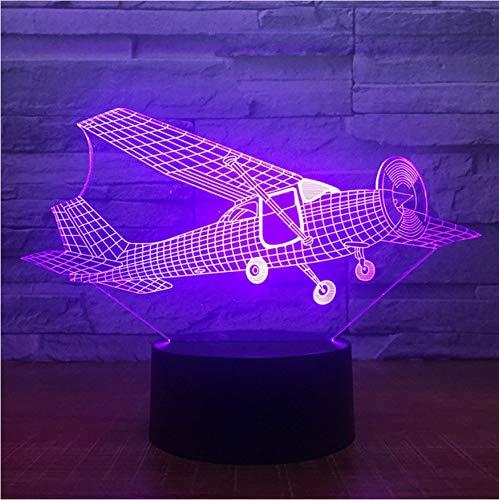 3D Led Nachttischlampen 7 Farben Alten Stil Segelflugzeug Lampe Ändern Touch Atmosphäre Lampe Schlafzimmer Licht Für Neujahr Geschenk Wohnkultur (Alten Stil-lampe)