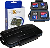 Ex-Pro® Tough-store Waterproof Memory Card Case for [SD/SDHC/SDXC/Compact Flash/CF] - Black