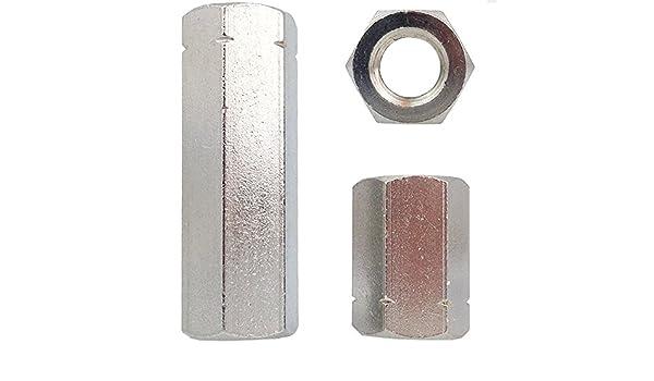 M8 x 40mm x 4 St/ück Gewindemuffe Sechskant Verbindungsmutter Langmutter Distanzmutter Edelstahl V2A A2