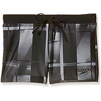 Speedo Valmilton Aqua -  Costume da Bagno Adulto, colore nero (charcoal), taglia 46 (Taglia produttore: 32)