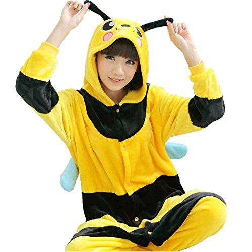 Imagen de kigurumi pijamas unisexo adulto traje disfraz adulto animal pyjamas iflife s para altura 148 158cm , abeja