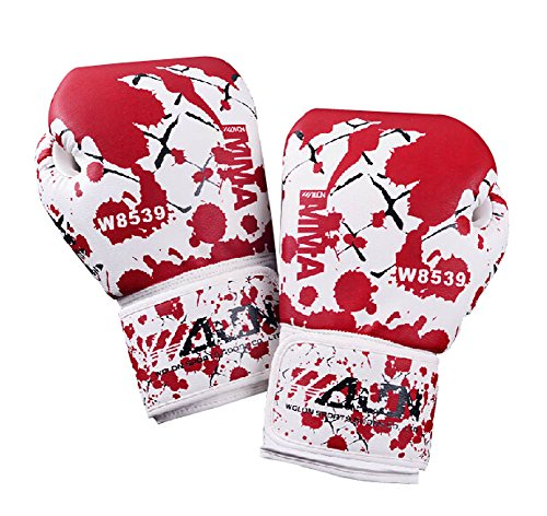 Kühle Adult Boxhandschuhe Trainingshandschuhe ROT WEISS, 10 Ounce