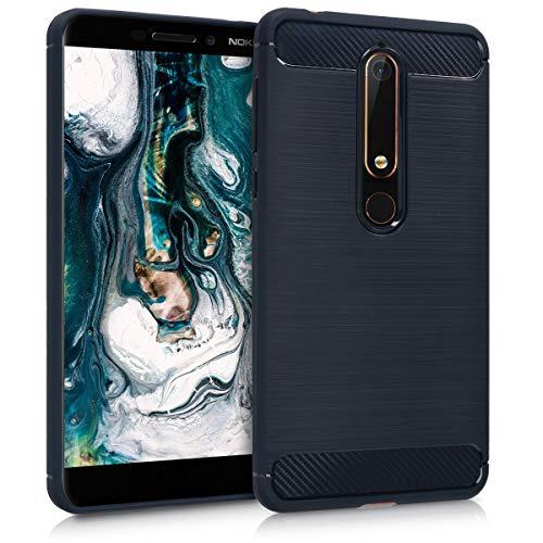 kwmobile Nokia 6.1 (2018) Hülle - Handyhülle für Nokia 6.1 (2018) - Handy Case in Dunkelblau