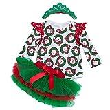 Anguang Baby Baby Mädchen Weihnachten Weihnachtsmann Kostüm Kleid und Hut Set Stil 1 L