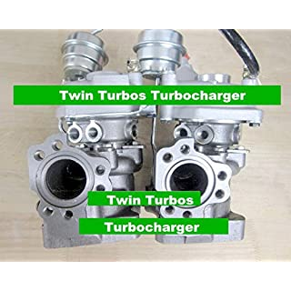 GOWE Twin Turbos Turbocharger for K03 53039880016 53039880017 078145701R Twin Turbos Turbocharger For AUDI S4 A6 1997-01 AJK ARE BES AGB V6 2.7L C5 S4 250HP 265HP
