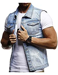 edb27c34d0 Amazon.it: Giacca Jeans - Blu / Abiti e giacche / Uomo: Abbigliamento