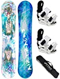 AIRTRACKS Snowboard Set - Tabla Pink Thunder Mujer 156CM - Fijaciones Savage W M - SB Bag/Nuevo