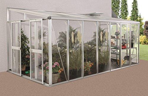 Gartenwelt Riegelsberger Anlehngewächshaus Helena – Ausführung: 11900 Kombi ESG 4 mm und HKP 10 mm Alu, Fläche: ca. 11,9 m², mit 3 Dachfenster, Sockelmaß: 2,68 x 4,70 m