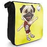Fancy A Snuggle , Sac pour homme à porter à l'épaule S - noir - Volleyball Pug Playing Shorts, S