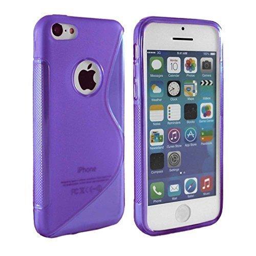 Connect S-Line Zone Coque gel avec film protecteur d'écran, lingette et mini stylet tactile pour IPhone 4, 4G et 4S Violet