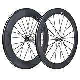 VCYCLE 700C Rennrad Carbon Laufradsatz Vorne 60mm Hinten 88mm Drahtreifen 23mm Breite Shimano oder Sram 8/9/10/11 Speed