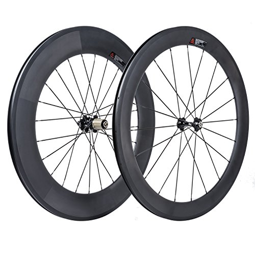 VCYCLE 700C Road Carbon Bike Front Wheel Kit 60mm Rear 88mm Riveter 23mm Shimano or Sram Width 8 / 9 / 10 / 11 Speeds