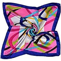 Faux donne di seta Halstuecher Bandana Foulard 50 x 50cm Sciarpa foulard fazzoletto