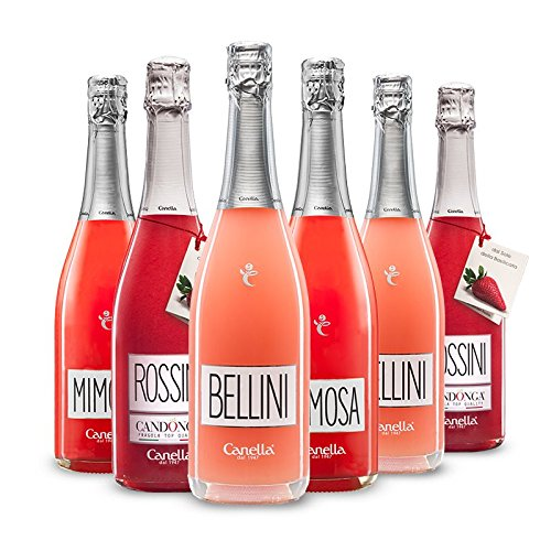 Canella Bellini Cocktail - 6 bt - Bellini, Mimosa e Rossini CANDONGA - 75 cl.