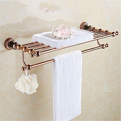 Or rose Or noir baignoire sèche-serviettes salle de bains sèche-serviettes de bain à levier unique kit de montage de matériel, baignoire sèche-serviettes
