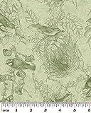 Fat Quarter Birds of Feather grün Quilting Stoff?benartex