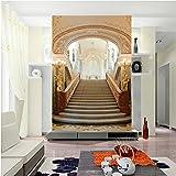 BIZHIGE 3D Flur Wandbild 3D Wandbild Für Wohnzimmer TV Hintergrund 3D Foto Wandbild Wandaufkleber 380 × 260 cm