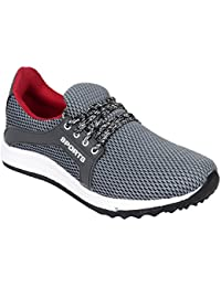 Setrax Grey Lace-up Casual Shoes For Men