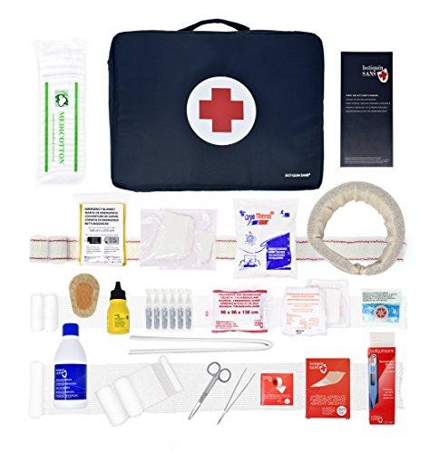 Erste-Hilfe-Set SPORT für Sportausrüstungen. (Digitalthermometer, Halskragen, Sofort-Kühlakku, Finger Schiene...)