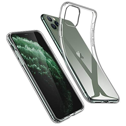 ESR Coque pour iPhone 11 Pro, Bumper Housse Etui de Protection Transparent en Silicone TPU Souple [Ultra Fin] [Ultra Léger] pour iPhone 11 Pro (2019) 5,8 Pouces (Série Jelly, Transparent)