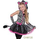 Christy's - Disfraz para niña cebra, talla 12 - 14 años (997029)
