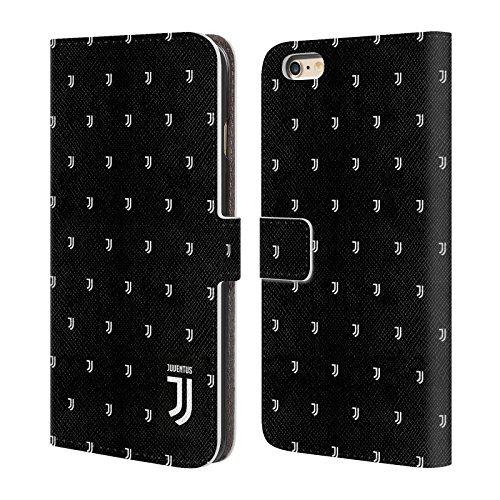 Ufficiale Juventus Football Club Banale Lifestyle 2 Cover a portafoglio in pelle per Apple iPhone 6 / 6s Pattern Logomark