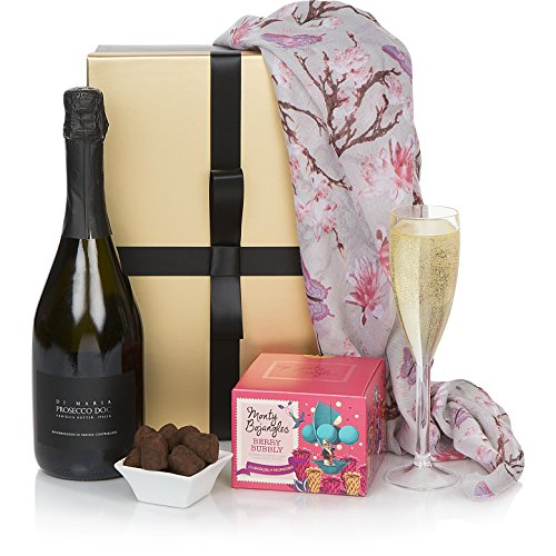 Prosecco & Chocolates Birthday Hampers - Luxury Prosecco & Chocolate Truffles Hampers - Premium Wine Gift Box Range For Her