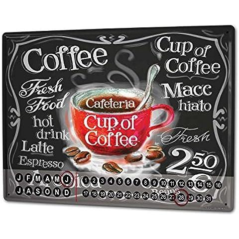 Calendario perpetuo Ristorante Cucine tazza di caffè Magnetico