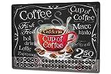 Calendrier perpétuel Fun Cuisine tasse de café métal