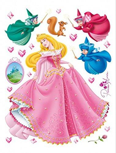 1art1 75256 Dornröschen - Disney Prinzessin Aurora Wand-Tattoo Aufkleber Poster-Sticker 65 x 42 cm