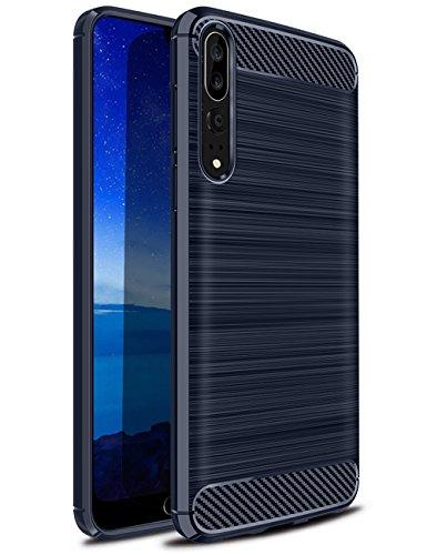 Huawei-P20-Pro-Coque-Etui-Housse-de-Protection-en-Premium-TPU-Silicone-avec-Fibre-de-Carbone-Bross-Motif-pour-Huawei-P20-Pro-61-Smartphone