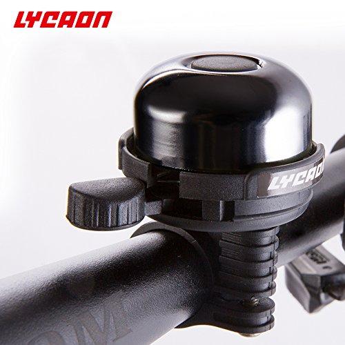 LYCAON Aluminum Fahrradklingel Klingel (Schwarz) - 8