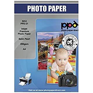 PPD Inkjet Satin Pearl  Super Premium Photo Paper A4 280gsm x 100 Sheets PPD-21-100