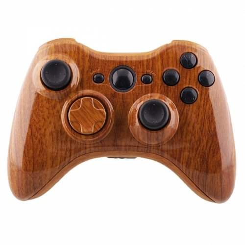 greenzone-r-woodgrain-xbox-360-replacement-controller-shell-with-matching-buttons-mod-kit-uk-company
