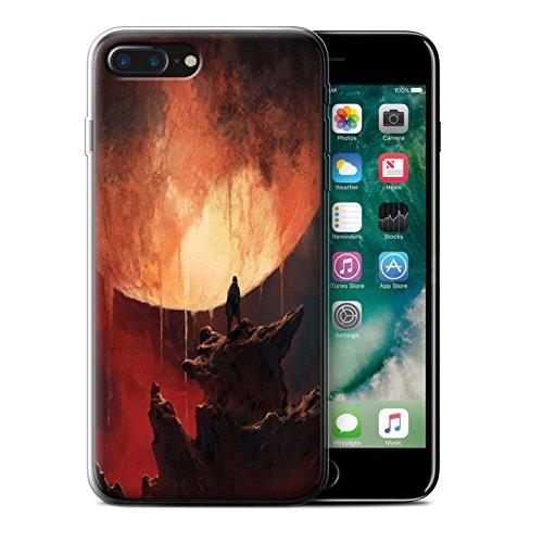 Offiziell Chris Cold Hülle / Gel TPU Case für Apple iPhone 7 Plus / Planet/Mond Muster / Fremden Welt Kosmos Kollektion Schmelzen Sonne
