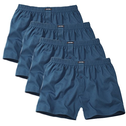 Ceceba Herren Boxershorts Shorts 2er Pack 4 X Blau
